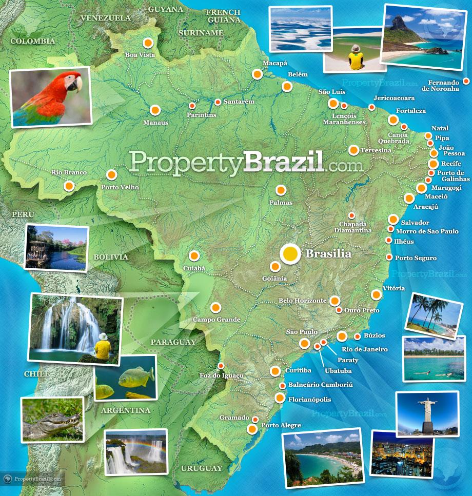 Kaart-brazilie